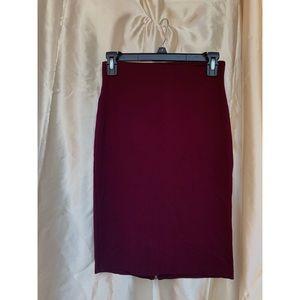 Forever 21; Long Burgundy Skirt